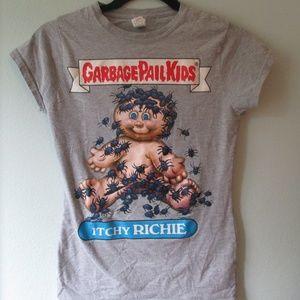 Garbage Pail Kids Itchy Richie Gray T-Shirt